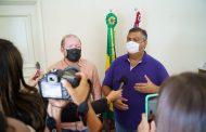 Othelino e Flávio Dino discutem projetos do Executivo enviados à Assembleia. Em destaque aqui na Portfólio Vip